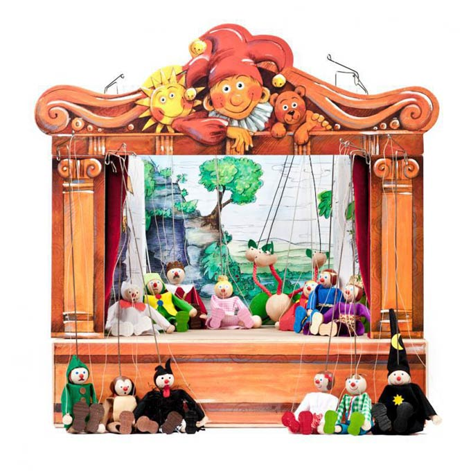 Home puppets theater and 14 marionettes
