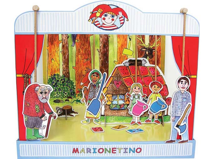 "Paper puppet theater ""Hansel and Gretel"""