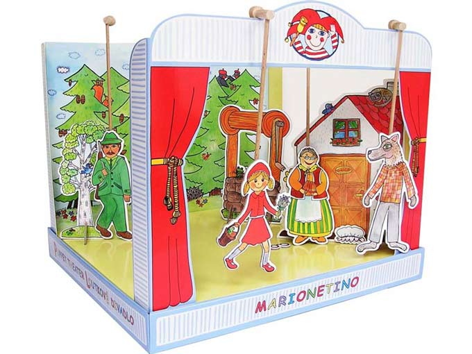 "Paper puppet theater ""Little Red Riding Hood"""