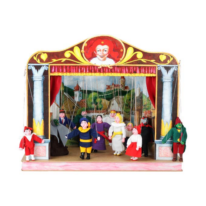 Home puppets theater and 12 marionettes