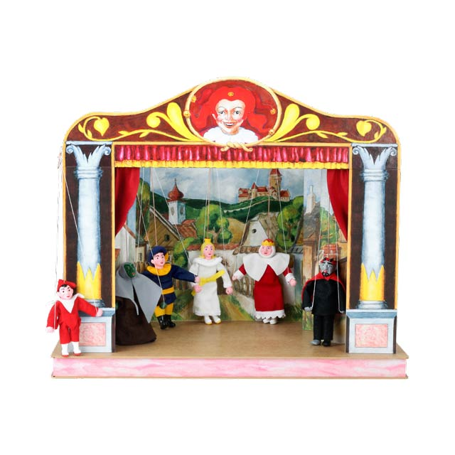 Home puppets theater and 6 marionettes