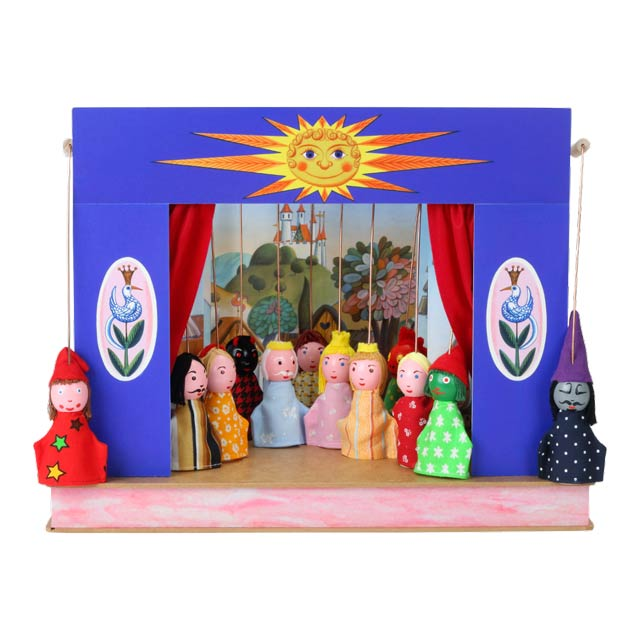 "Mini puppet theatre ""Sunshine"" and 12 marionettes"