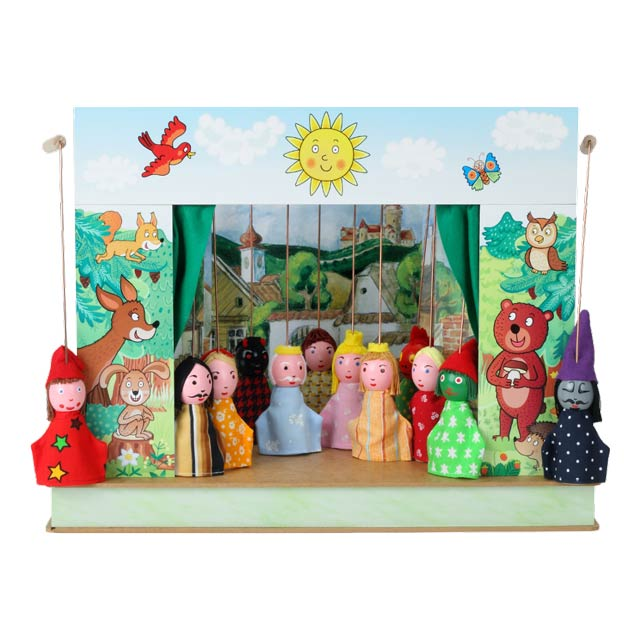 "Mini puppet theatre ""Spring"" and 12 marionettes"