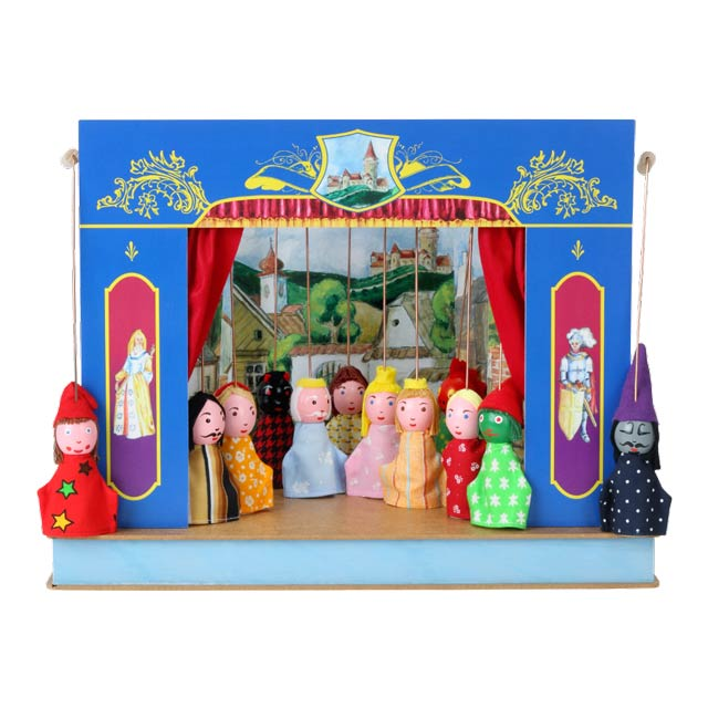 "Mini puppet theatre ""Castle"" and 12 marionettes"