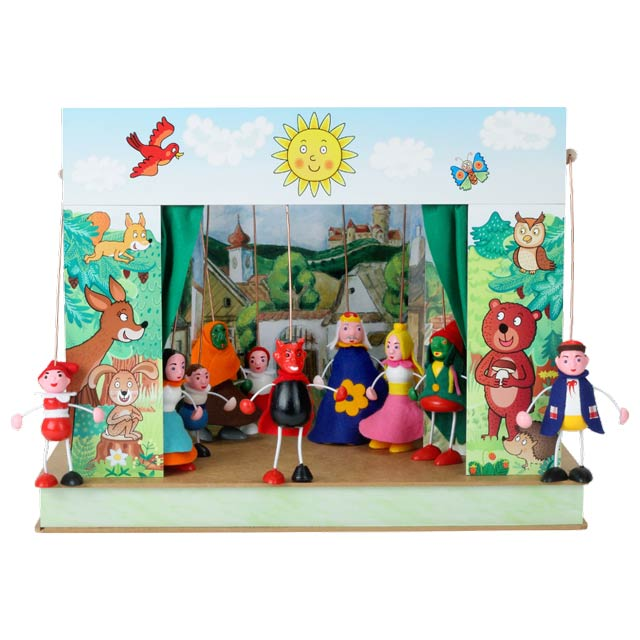 "Portable puppet theatre ""Spring"" and 10 marionettes"